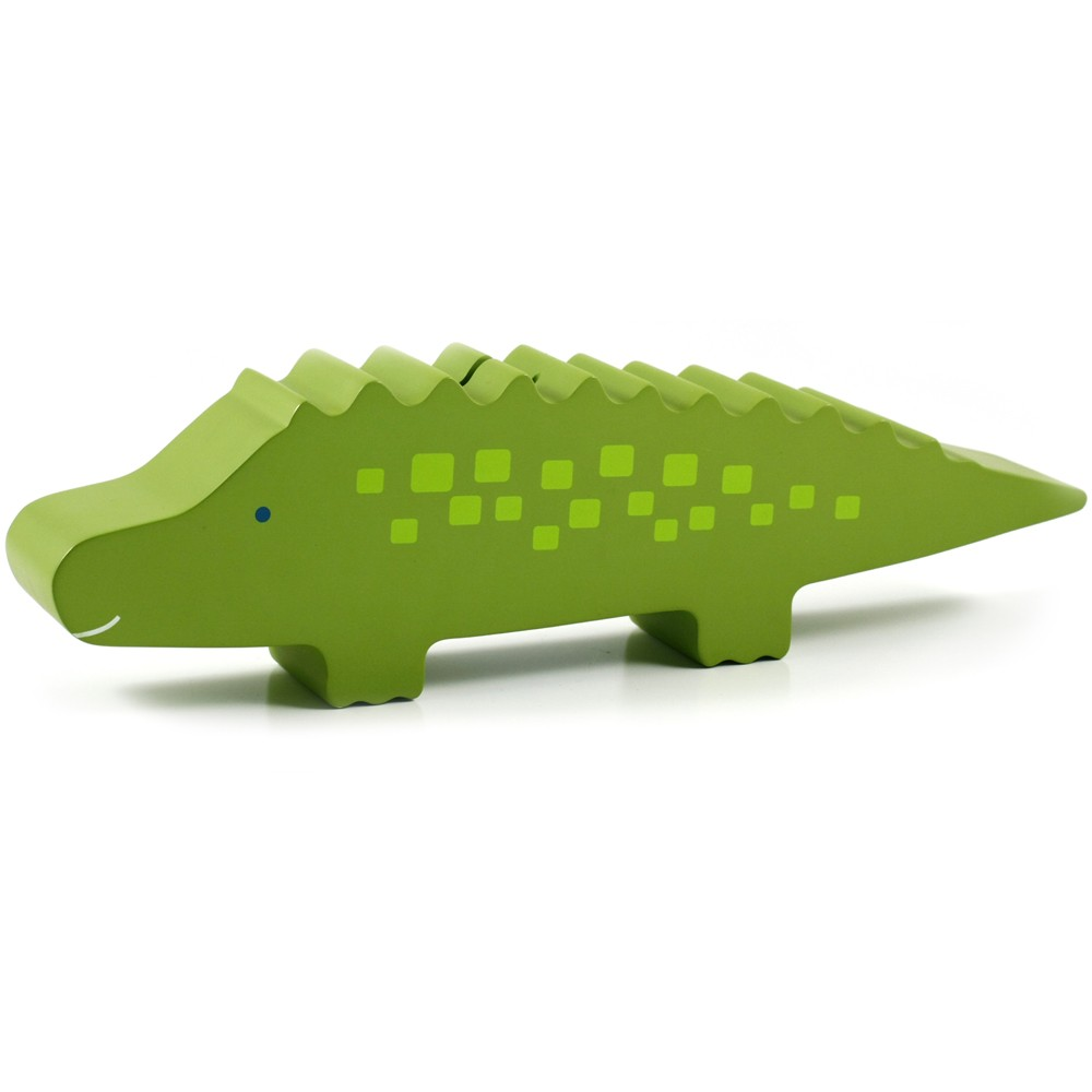 Allie Alligator Wooden Bank by Pearhead