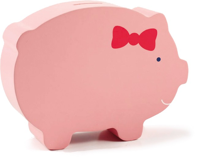 Pinky Pig Wooden Bank by Pearhead