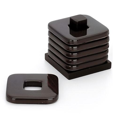 Ceramic Coaster Set - Brown