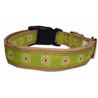 Green Flower Collar - Small