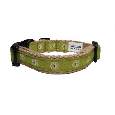 Green Flower Collar - XSmall