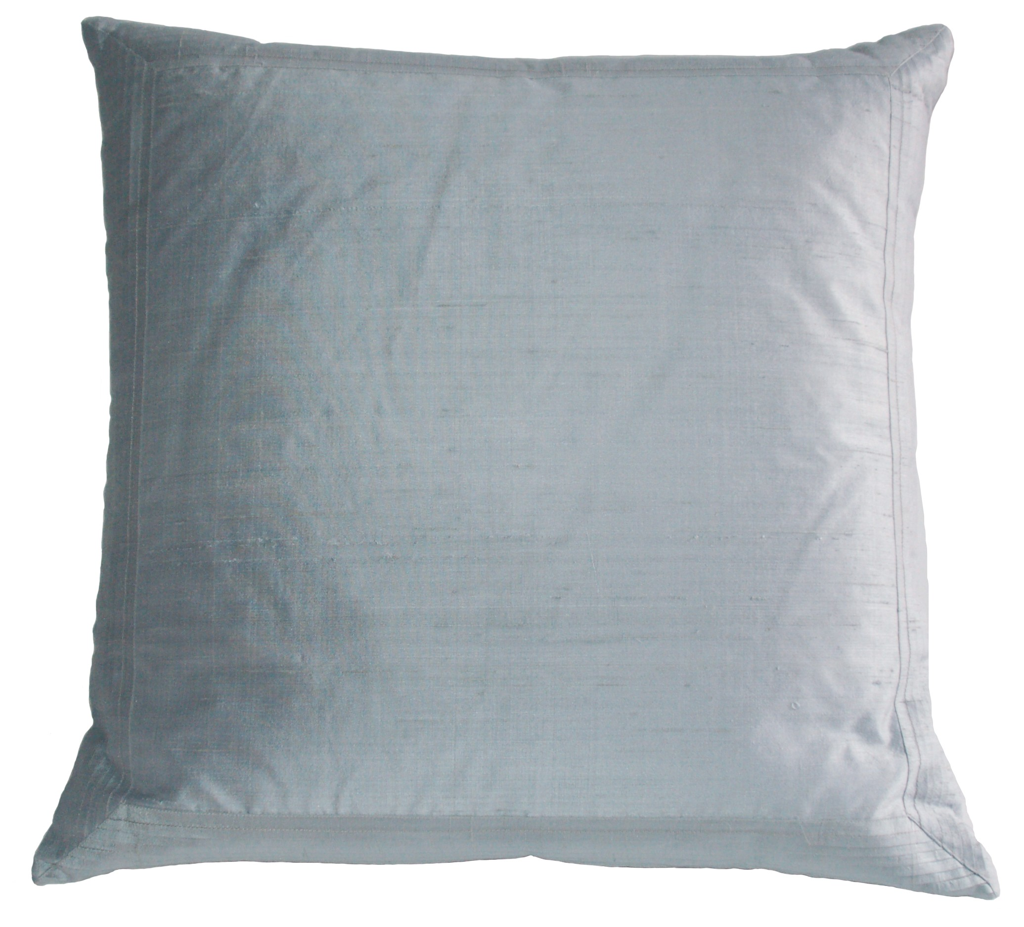 Manhattan Pleated Silk Pillow - blue