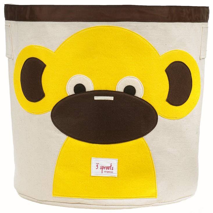 Monkey Organic Canvas Storage Bin