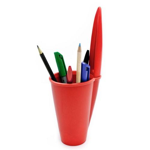 J-ME Bic Pen Lid Pen Holder - Red