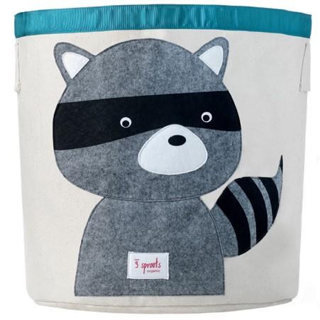 Raccoon Organic Canvas Storage Bin