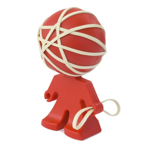 Rafael Rubber Band Holder - Red
