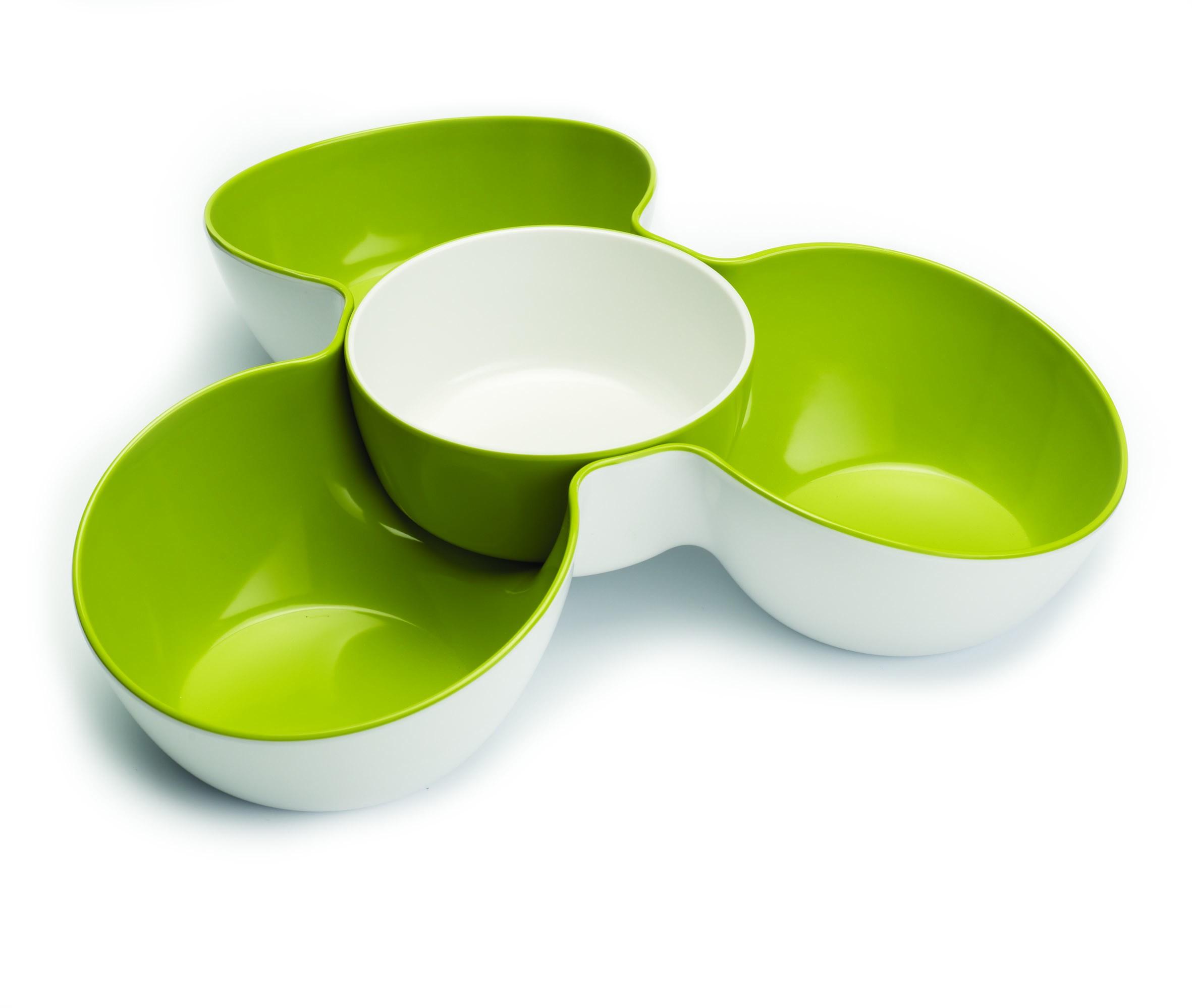 Joseph Joseph Triple Dish Multi-Bowl Serving Dish - White