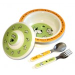 Furry Friends Melamine Dish Set by O.R.E