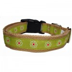 Green Flower Collar - Medium