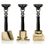 Kontextur Viktor Toothbrush/Razor Holders Set of 3 - Gold