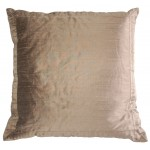 Manhattan Pleated Silk Pillow -Taupe