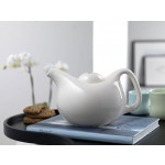 MANO White Ceramic Teapot by Kahler