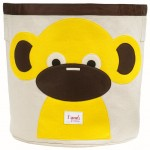 Monkey Organic Canvas Storage Bin