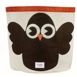 Owl Organic Canvas Storage Bin