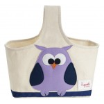 Owl Organic Canvas Storage Caddy