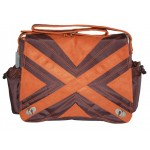 Kalencom Suedine Diaper Bag - Orange