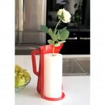 Vertu de Carafe Paper Towel Dispenser and Vase - Red