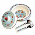 Vroom Melamine Dish Set by O.R.E
